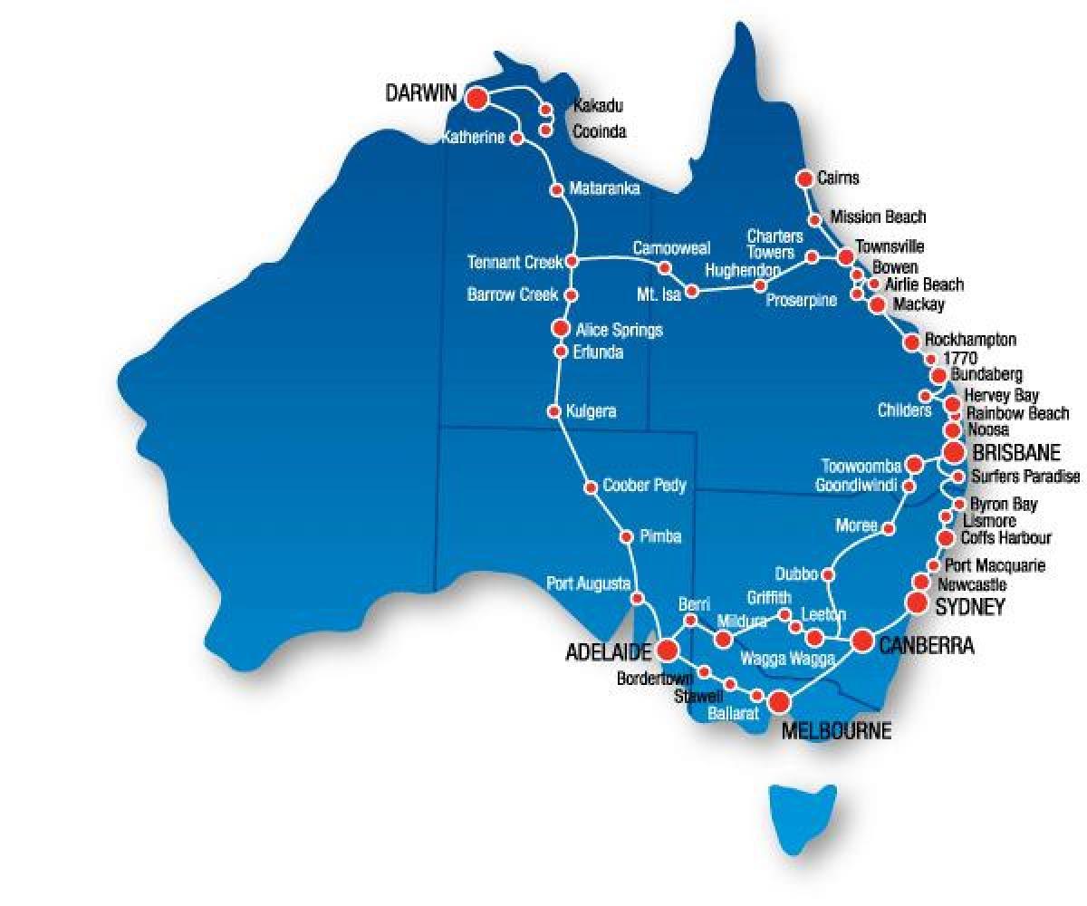kart over usa østkyst Australia østkysten kart   Kart over Australia Øst Kysten  kart over usa østkyst