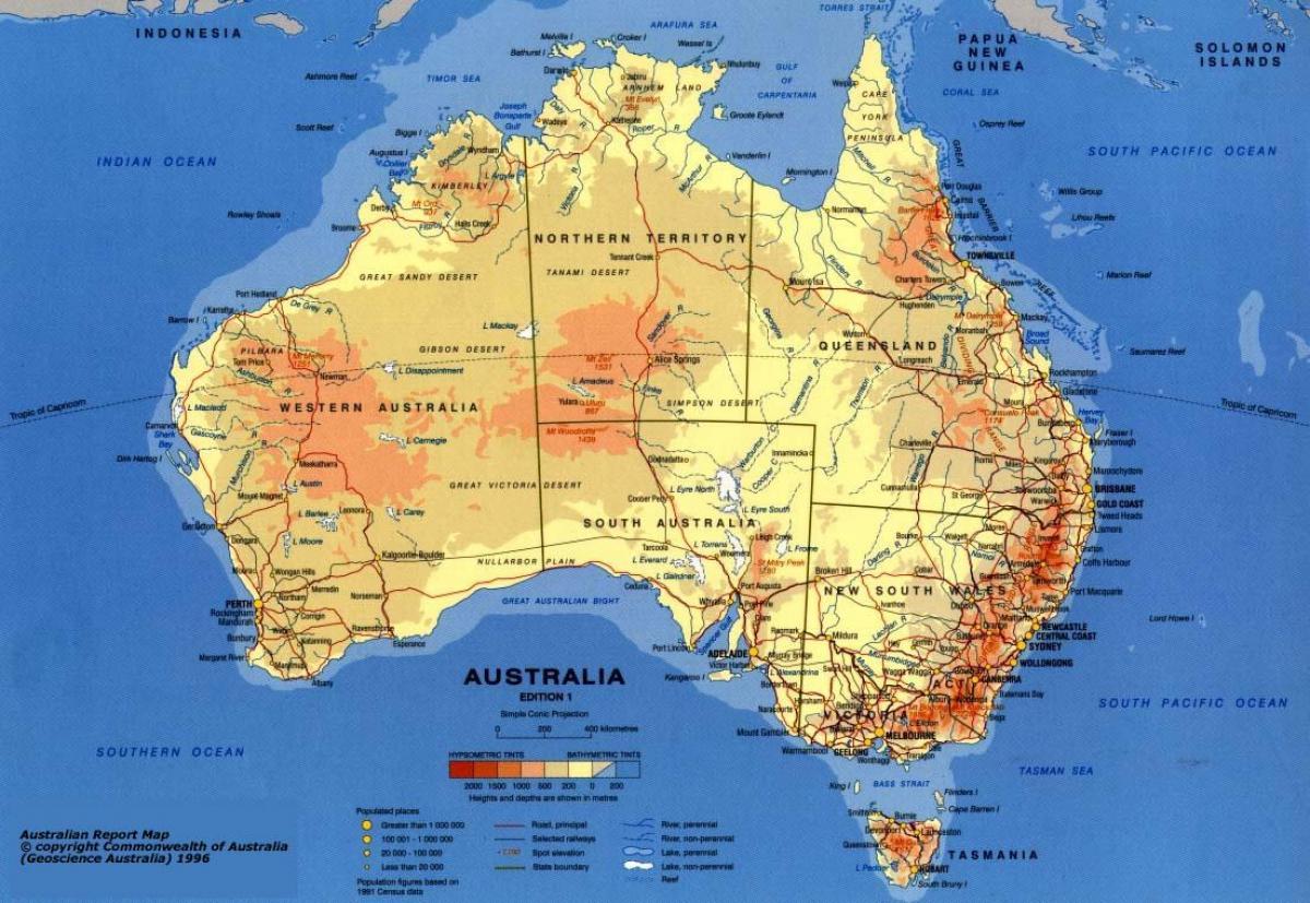 kart skala Australia kart skala   Kart over Australia med skala (Australia og  kart skala